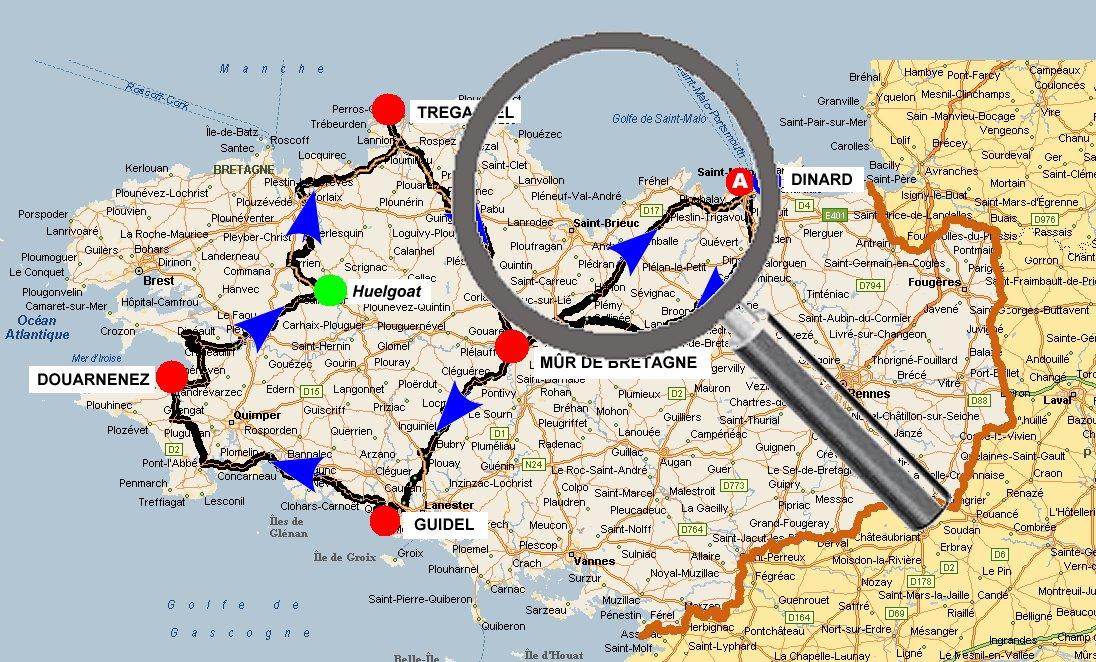 carte détaillée de la cote d emeraude Vendredi 5 juin : Mûr de Bretagne (Côtes d'Armor) à Dinard (Ille